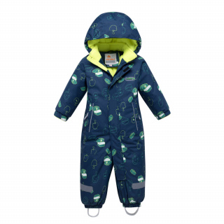 Комбинезон детский зимний темно-синего цвета купить оптом в интернет магазине MTFORCE 8903TS