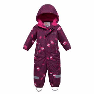 Комбинезон детский зимний малинового цвета купить оптом в интернет магазине MTFORCE 8904M