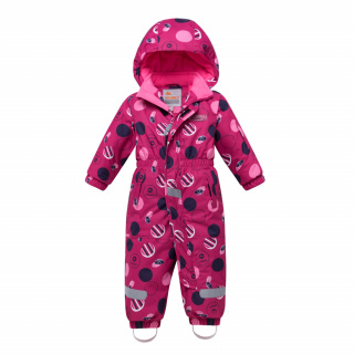 Комбинезон подростковый для девочки зимний розового цвета купить оптом в интернет магазине MTFORCE 8906R