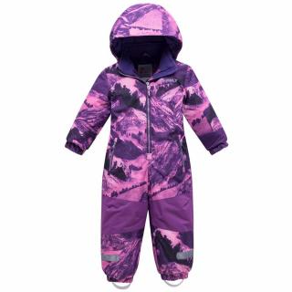 Комбинезон подростковый для девочки зимний фиолетового цвета купить оптом в интернет магазине MTFORCE 8908F