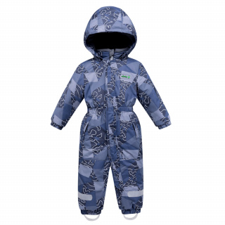 Комбинезон детский зимний синего цвета купить оптом в интернет магазине MTFORCE 8909S