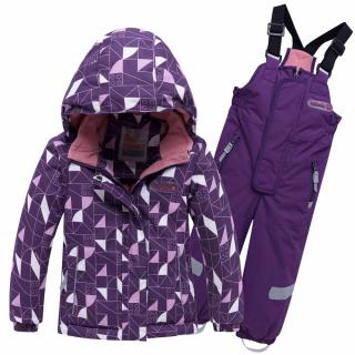 Горнолыжный костюм детский зимний фиолетового цвета купить оптом в интернет магазине MTFORCE 8912F
