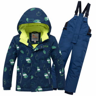 Горнолыжный костюм детский зимний темно-синего цвета купить оптом в интернет магазине MTFORCE 8913TS