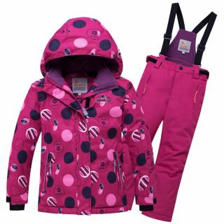 Горнолыжный костюм подростковый для девочки зимний малинового цвета купить оптом в интернет магазине MTFORCE 8916M