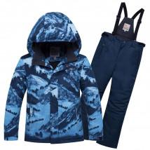 Горнолыжный костюм подростковый для мальчика зимний синего цвета купить оптом в интернет магазине MTFORCE 8917S