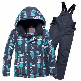 Горнолыжный костюм подростковый для мальчика зимний синего цвета купить оптом в интернет магазине MTFORCE 8925S