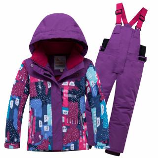 Горнолыжный костюм детский зимний фиолетового цвета купить оптом в интернет магазине MTFORCE 8926F