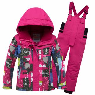 Горнолыжный костюм детский зимний розового цвета купить оптом в интернет магазине MTFORCE 8926R