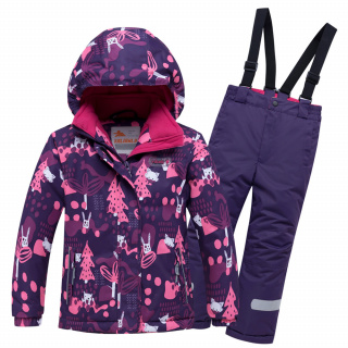 Горнолыжный костюм детский зимний фиолетового цвета купить оптом в интернет магазине MTFORCE 8928F