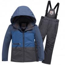 Горнолыжный костюм подростковый для мальчика зимний синего цвета купить оптом в интернет магазине MTFORCE 8929S
