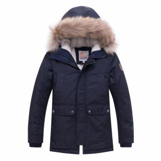 Купить оптом подростковую для мальчика зимнюю парку темно-синего цвета в интернет магазине MTFORCE 8931TS