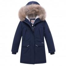 Купить оптом куртку парку зимнию подростковую для мальчика темно-синего цвета 8836TS в интернет магазине MTFORCE.RU