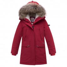 Купить оптом подростковую для мальчика зимнюю парку бордового цвета в интернет магазине MTFORCE 893Bo