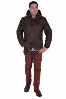 Купить оптом куртка зимняя мужская коричневого цвета 897K в интернет магазине MTFORCE.RU