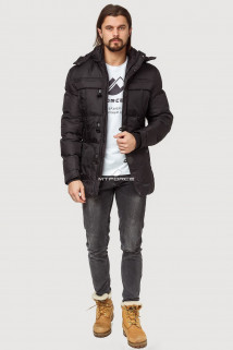 Купить оптом куртка зимняя мужская черного цвета 897Ch в интернет магазине MTFORCE.RU