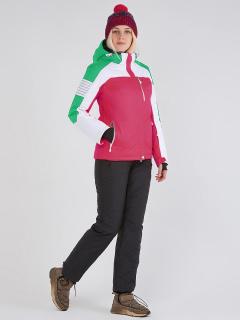 Горнолыжный костюм женский зимний розового цвета купить оптом в интернет магазине MTFORCE 019601R