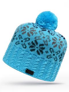 Купить оптом шапку голубого цвета в интернет магазине MTFORCE 6026Gl