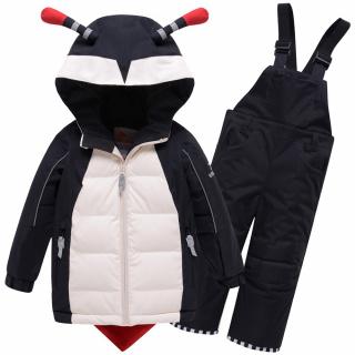 Детский зимний костюм горнолыжный черного цвета купить оптом в интернет магазине MTFORCE 9001Ch
