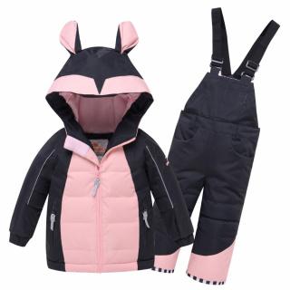 Детский зимний костюм горнолыжный черного цвета купить оптом в интернет магазине MTFORCE 9002Ch