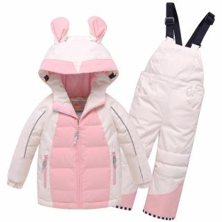 Детский зимний костюм горнолыжный бежевого цвета купить оптом в интернет магазине MTFORCE 9002B
