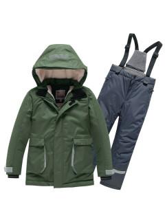 Горнолыжный костюм детский зимний цвета хаки купить оптом в интернет магазине MTFORCE 9003Kh