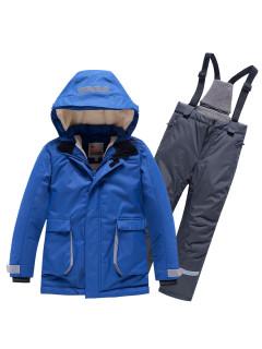 Горнолыжный костюм детский зимний синего цвета купить оптом в интернет магазине MTFORCE 9003S