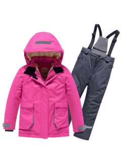 Горнолыжный костюм детский зимний розового цвета купить оптом в интернет магазине MTFORCE 9004R