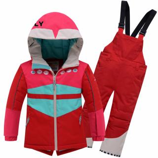 Детский зимний костюм горнолыжный красного цвета купить оптом в интернет магазине MTFORCE 9006Kr
