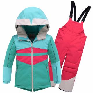 Детский зимний костюм горнолыжный бирюзового цвета купить оптом в интернет магазине MTFORCE 9006Br