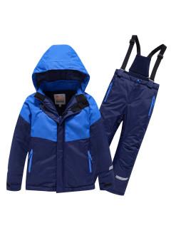 Горнолыжный костюм детский зимний темно-синего цвета купить оптом в интернет магазине MTFORCE 90071TS