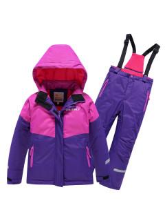 Горнолыжный костюм для девочки зимний темно-фиолетового цвета купить оптом в интернет магазине MTFORCE 90081TF