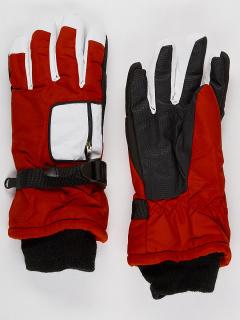 Горнолыжные перчатки подростковые для мальчика зимние красного цвета купить оптом в интернет магазине MTFORCE 901Kr