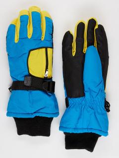 Горнолыжные перчатки подростковые для мальчика зимние синего цвета купить оптом в интернет магазине MTFORCE 901S