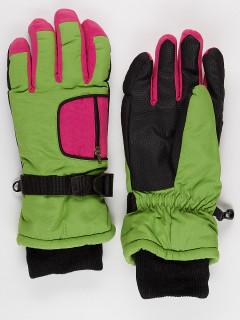 Горнолыжные перчатки подростковые для мальчика зимние зеленого цвета купить оптом в интернет магазине MTFORCE 901Z