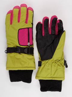Горнолыжные перчатки подростковые для мальчика зимние желтого цвета купить оптом в интернет магазине MTFORCE 901J