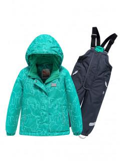 Горнолыжный костюм детский зимний бирюзового цвета купить оптом в интернет магазине MTFORCE 9012Br
