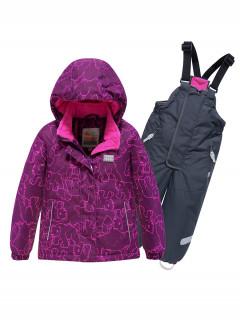 Горнолыжный костюм детский зимний малинового цвета купить оптом в интернет магазине MTFORCE 9012M
