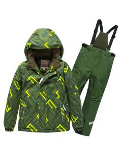 Горнолыжный костюм детский зимний цвета хаки купить оптом в интернет магазине MTFORCE 9013Kh