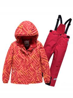Детский зимний костюм горнолыжный персикового цвета купить оптом в интернет магазине MTFORCE 9014P