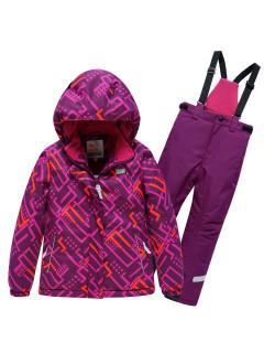 Детский зимний костюм горнолыжный фиолетового цвета купить оптом в интернет магазине MTFORCE 9014F