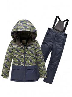Горнолыжный костюм для мальчика зимний хаки цвета купить оптом в интернет магазине MTFORCE 9015Kh