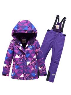 Горнолыжный костюм детский зимний фиолетового цвета купить оптом в интернет магазине MTFORCE 9018TF