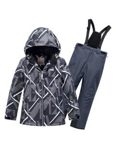 Горнолыжный костюм детский зимний цвета темно-серый купить оптом в интернет магазине MTFORCE 9019TC
