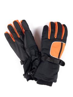 Горнолыжные перчатки подростковые для мальчика зимние оранжевого цвета купить оптом в интернет магазине MTFORCE 901Kr