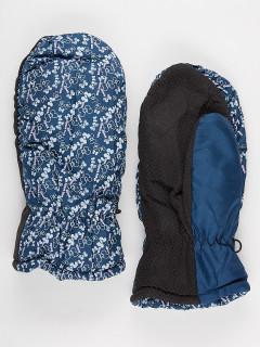 Рукавицы женские зимние голубого цвета купить оптом в интернет магазине MTFORCE 902Gl