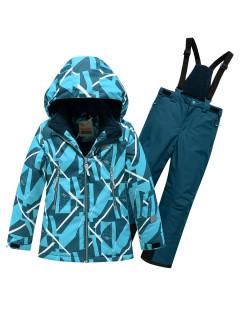 Детский зимний костюм горнолыжный голубого цвета купить оптом в интернет магазине MTFORCE 9020Gl