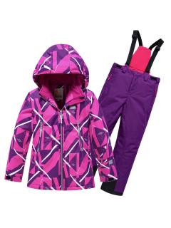 Детский зимний костюм горнолыжный малинового цвета купить оптом в интернет магазине MTFORCE 9020M