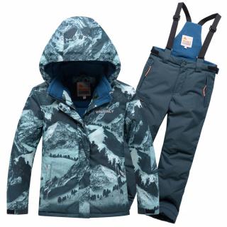 Подростковый для девочки зимний костюм горнолыжный бирюзового цвета купить оптом в интернет магазине MTFORCE 9022Br