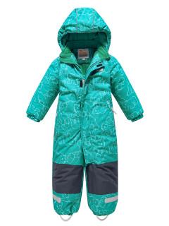 Комбинезон детский зимний бирюзового цвета купить оптом в интернет магазине MTFORCE 9024Br