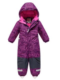 Детский зимний комбинезон фиолетового цвета купить оптом в интернет магазине MTFORCE 9024F